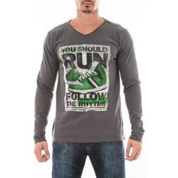 Vêtements Homme T-shirts manches longues Ritchie T-SHIRT JOBIT Gris