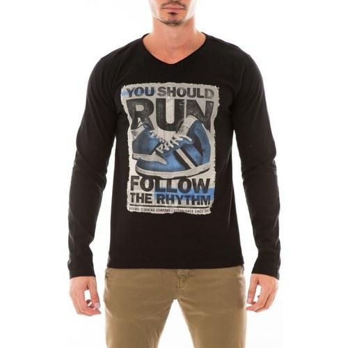 Vêtements Homme T-shirts manches longues Ritchie T-SHIRT JOBIT Noir