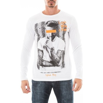 Vêtements Homme T-shirts manches longues Ritchie T-SHIRT JUTANA Blanc