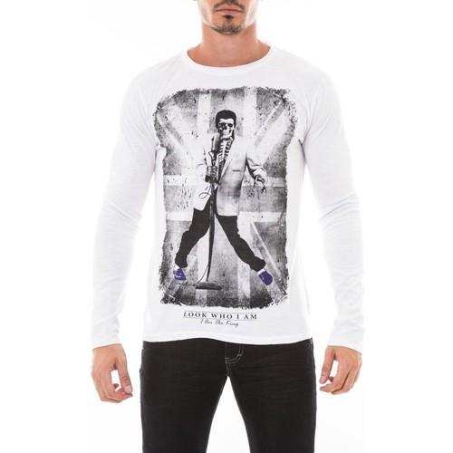 Vêtements Homme T-shirts manches longues Ritchie T-SHIRT JALIDIX Blanc