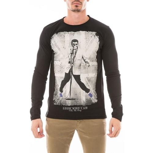 Vêtements Homme T-shirts manches longues Ritchie T-SHIRT JALIDIX Noir
