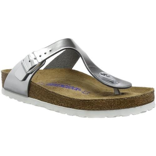 Chaussures Femme Sandales et Nu-pieds Birkenstock gizehcuir silver