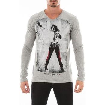 Vêtements Homme T-shirts manches longues Ritchie T-SHIRT JOULGO Gris
