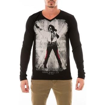 Vêtements Homme T-shirts manches longues Ritchie T-SHIRT JOULGO Noir