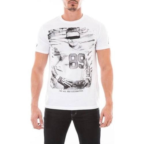 Vêtements Homme T-shirts manches courtes Ritchie T-SHIRT JAZIEL Blanc
