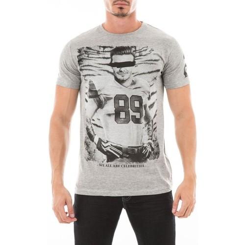 Vêtements Homme T-shirts manches courtes Ritchie T-SHIRT JAZIEL Gris