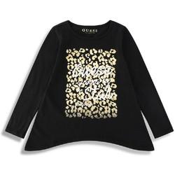 Vêtements Fille T-shirts manches longues Guess T-Shirt Fille manches longues Noir 38
