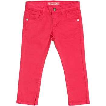 Vêtements Fille Jeans droit Guess Pantalon Fille Rose Rose