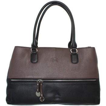 Sacs Femme Sacs porté épaule Francinel Sac porté épaule  en cuir ref_lhc41923-taupe-noir-40*27*14 marron