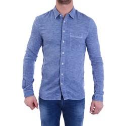 Vêtements Homme Chemises manches longues Pearly King BUCK Bleu Ciel