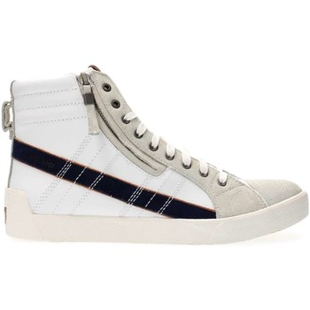 Chaussures Homme Baskets montantes Diesel Y01169 P1204 D-STRING SNEAKERS Homme WHITE BLUE WHITE BLUE