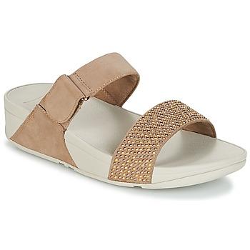 Chaussures Femme Mules FitFlop LULU POPSTUD SLIDE SANDAL Beige