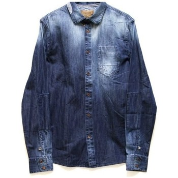 Vêtements Homme Chemises manches longues Pearly King STACK Bleu Denim