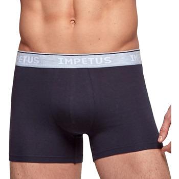 Vêtements Homme Boxers / Caleçons Impetus Boxer confort Cotton Organic bleu marine Bleu