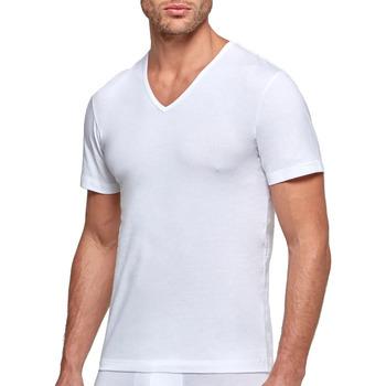 Vêtements Homme T-shirts manches courtes Impetus T-shirt homme bio organique Oeko-Tex col V Cotton Organic blanc Blanc