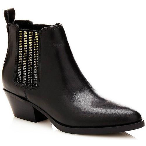 Guess Bottines Femme en cuir Verla Noir Noir - Livraison Gratuite avec  - Chaussures Boot Femme