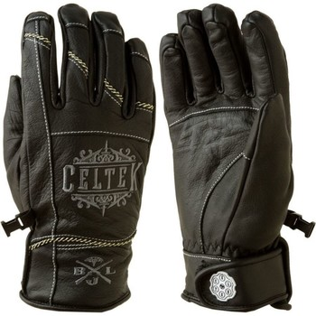 Gants Celtek gants cuir noir outlaw black leather gloves
