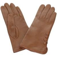 Accessoires textile Femme Gants Glove Story Gants en cuir agneau ref_glo23659 liege Marron