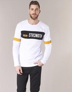Vêtements Homme T-shirts manches courtes Jack & Jones JCOACE-TEE-LS-CREW-NECK blanc