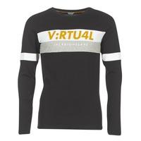 Vêtements Homme T-shirts manches longues Jack & Jones JCOACE-TEE-LS-CREW-NECK noir