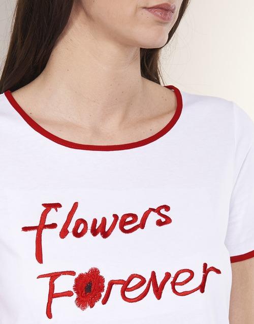 INNATIMBI  Betty London  t-shirts manches courtes  femme  blanc / rouge