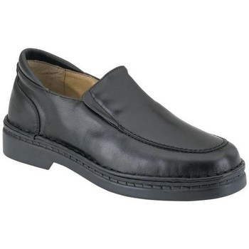 Chaussures Garçon Mocassins Calzamedi Moccasin  pieds délicats spéciales large BLACK