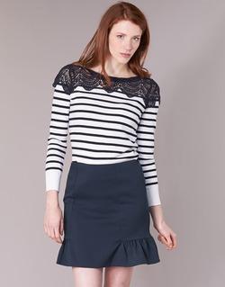 Vêtements Femme Pulls Naf Naf MLACY Ecru / Marine