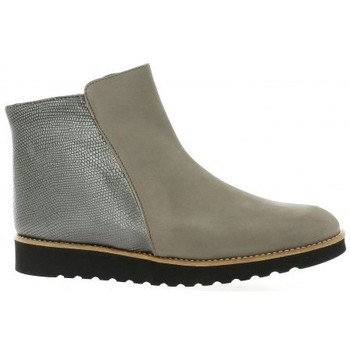 Chaussures Femme Boots Latina Boots cuir nubuck Taupe