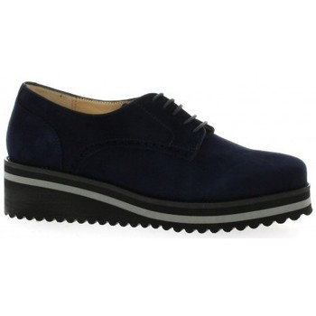 Chaussures Femme Derbies Vidi Studio Derby cuir velours Marine