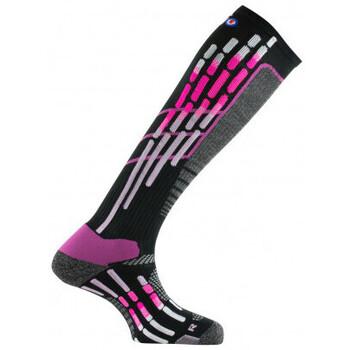 Accessoires Homme Chaussettes Thyo Mi-bas chaussettes hautes de ski Noir rose