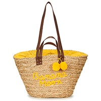 Sacs Femme Cabas / Sacs shopping Banana Moon LACELY WOODRAW Naturel / Jaune