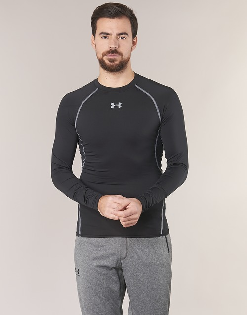 Vêtements Homme T-shirts manches longues Under Armour LS COMPRESSION Noir