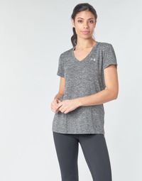 Vêtements Femme T-shirts manches courtes Under Armour TECH SSV - TWIST Noir / Gris