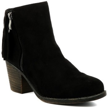 Chaussures Femme Bottines Playa Collection Bottines santiag JACINTHE Noir