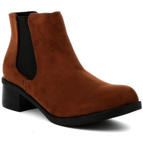 Chaussures Femme Boots Playa Collection Bottine chelsea MASSIMO Cognac