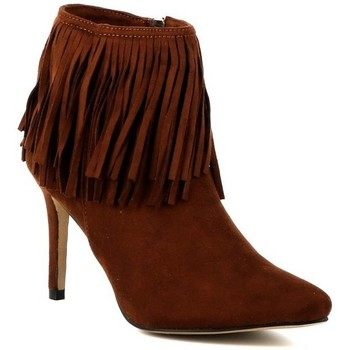 Chaussures Femme Bottines Playa Collection Bottine franges MENTOR Cognac