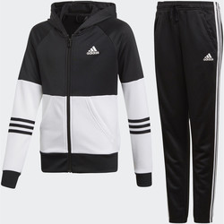Vêtements Fille Ensembles de survêtement adidas Performance Survêtement Hooded Noir / Blanc