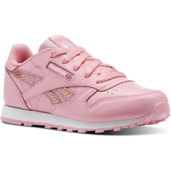 Chaussures Fille Baskets basses Reebok Classic Classic Leather Spring Rose / Blanc