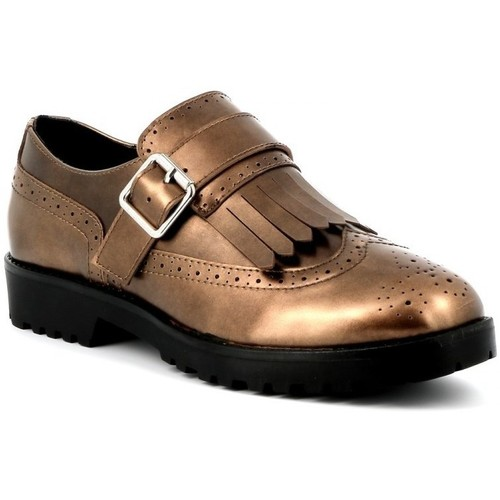 Chaussures Femme Mocassins Playa Collection Derbies vernies DOREMI Bronze