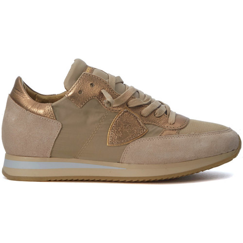 Philippe Model Paris Basket  Tropez Mondial beige et or Doré - Chaussures Baskets basses