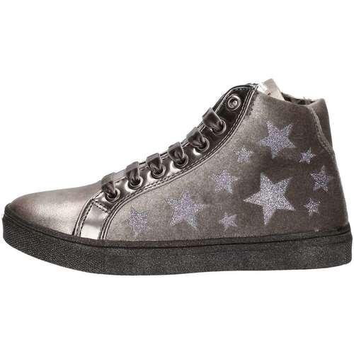 Chaussures Fille Baskets montantes Asso 57644 Sneakers Enfant Argent Argent