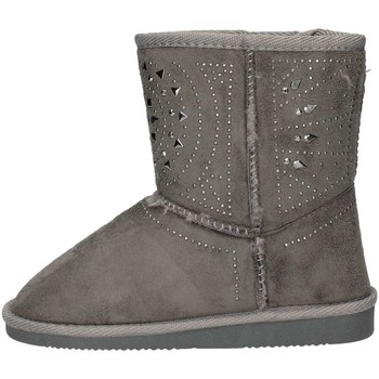 Chaussures Fille Low boots Asso 6000 Bottines Enfant Gris Gris