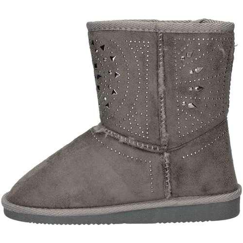 Chaussures Fille Low boots Asso 6000 Bottines Enfant Gris Gris