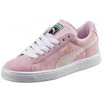 Chaussures Femme Baskets basses Puma Chaussures  Suede Jr - Pink Lady / White / Team Gold Rose