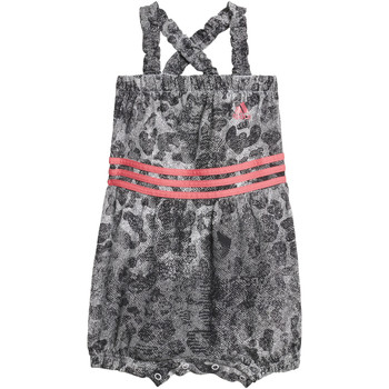 Vêtements Fille Combinaisons / Salopettes adidas Performance Combinaison Favorites Gris / Blanc / Noir