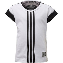 Vêtements Fille T-shirts manches courtes adidas Performance T-shirt Star Wars Blanc / Noir
