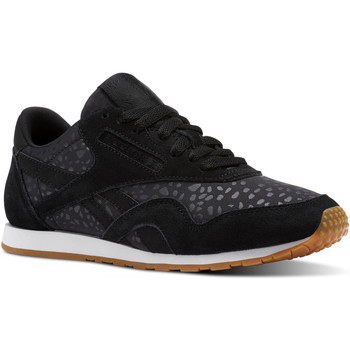 Chaussures Femme Baskets basses Reebok Classic Classic Nylon Slim Text Lux Noir / Blanc / Marron
