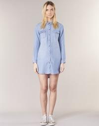 Vêtements Femme Robes courtes Vero Moda VMSILLA Bleu clair