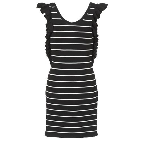 Vêtements Femme Robes courtes Vero Moda VMABHY Noir / Blanc