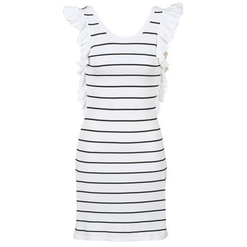 Vêtements Femme Robes courtes Vero Moda VMABHY Blanc / Noir